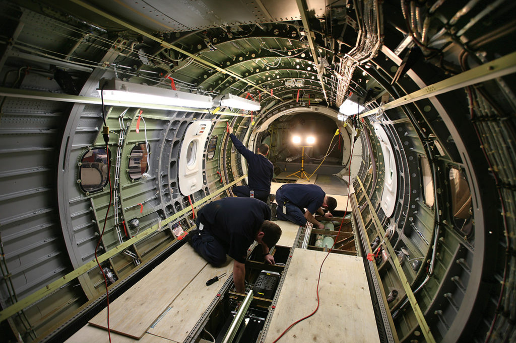 Thousands of man-hours went into modifying the aircraft with the latest ISR equipment. PAL Aerospace Photo