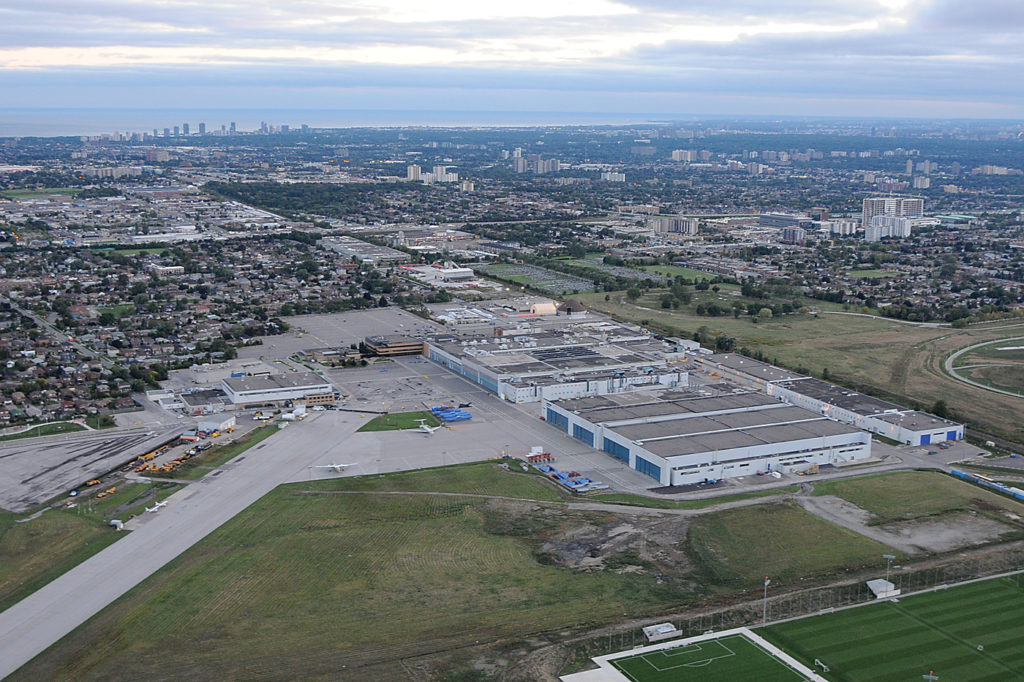 Aerial overview of Downsview site